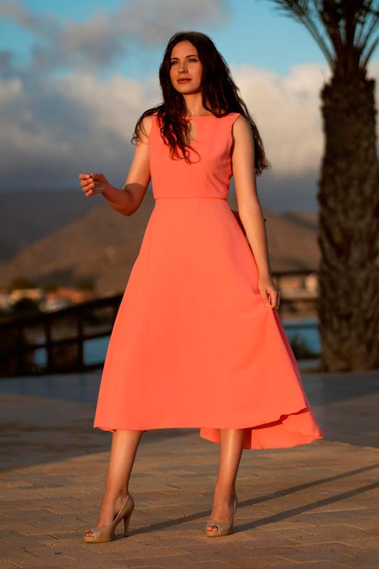Vestido de Fiesta Naranja VE1911